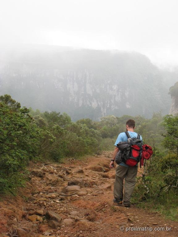 névoa no Canion Fortaleza - Parque Nacional da Serra Geral - RS
