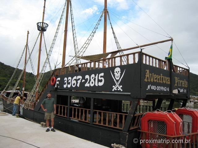 Altos e Baixos do Barco Pirata em Balneário Camboriú