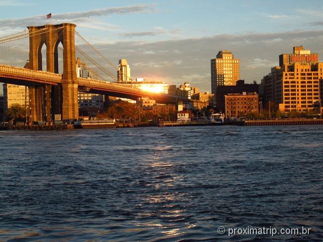 Ponte do Brooklyn, fim de tarde
