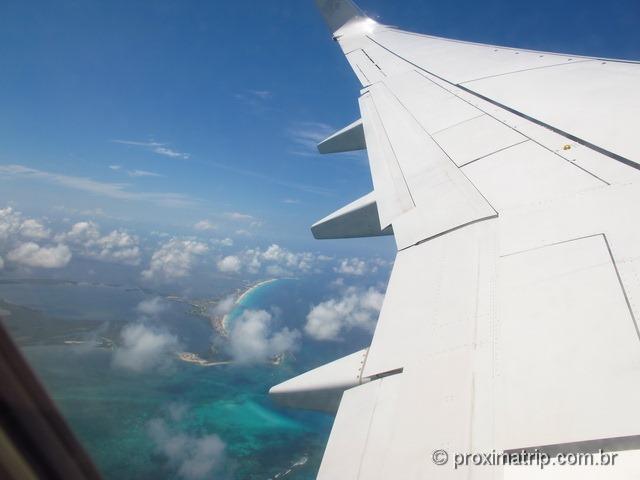 Cancun vista do avião