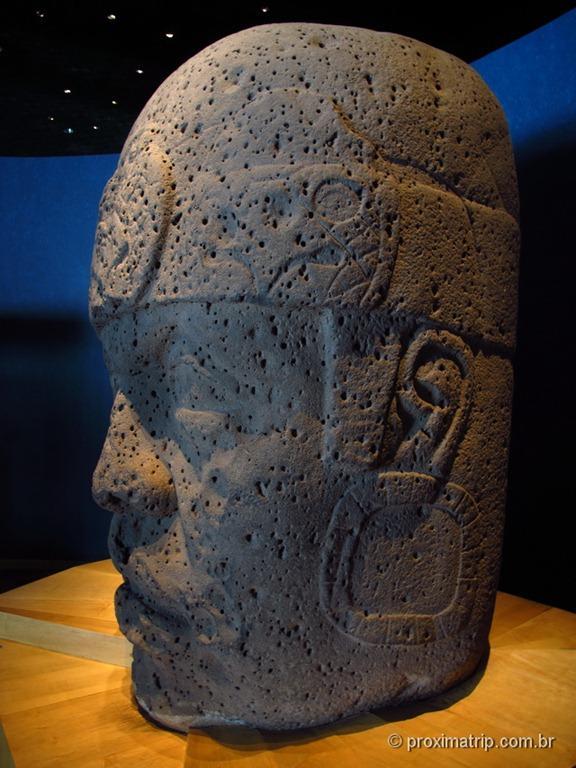 Museu Nacional de Antropologia - Cidade do México - Cabeza Colosal Olmeca