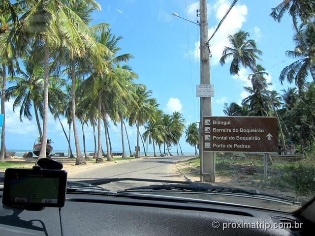 Início da Rota Ecológica - Alagoas