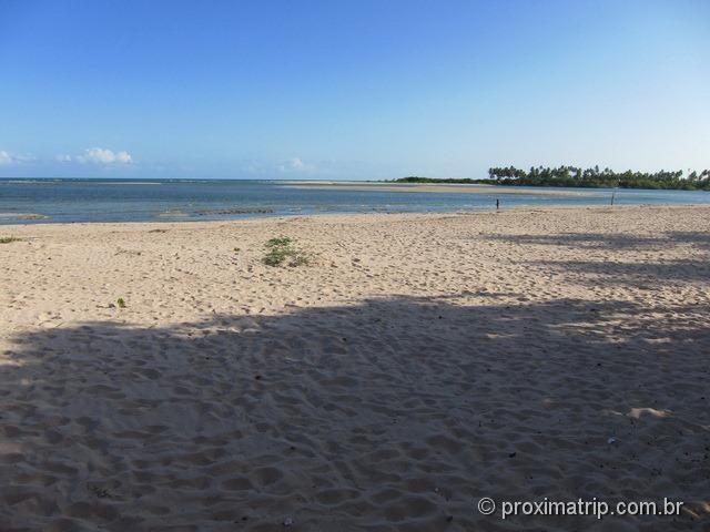 Encontro do Rio Camaragibe com o Mar - Rota ecológica Alagoas