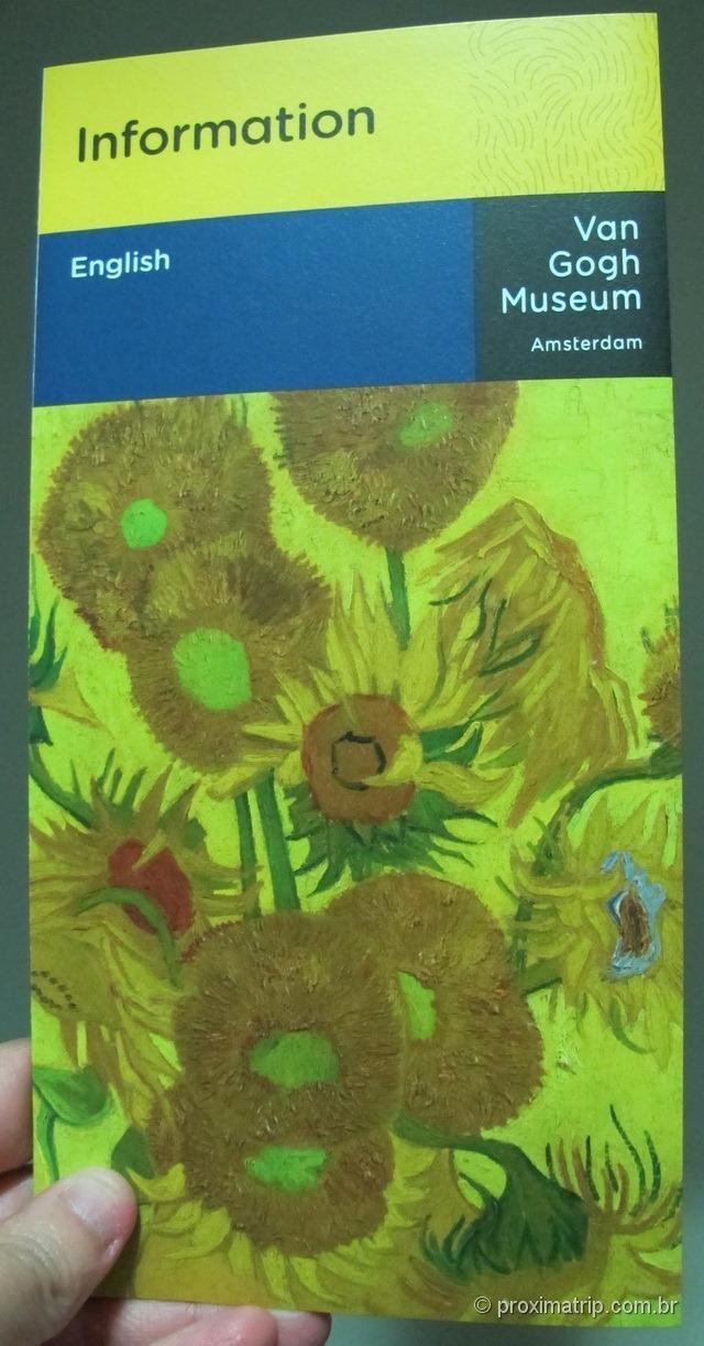 folder do Museu Van Gogh em Amsterdam