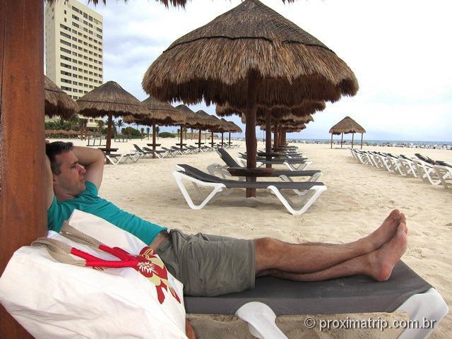 cadeiras de praia do hotel Hyatt Regency Cancun