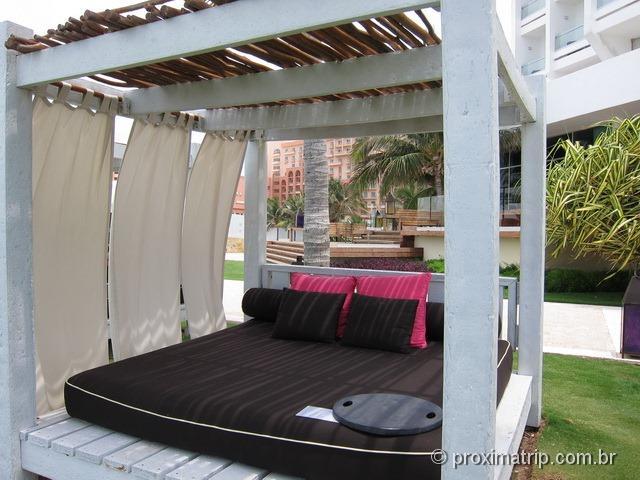 camas de praia do hotel Hyatt Regency Cancun