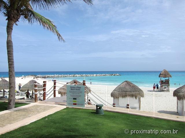 praia do hotel Hyatt pé na areia em Cancun - tranquila e sem ondas