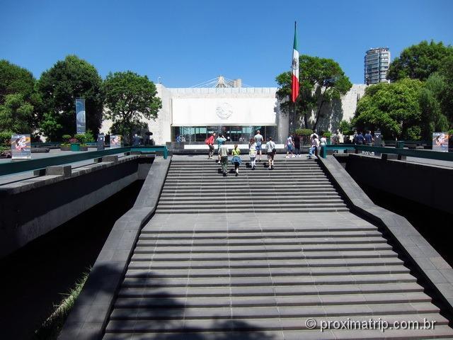 entrada do Museu Nacional de Antropologia Cidade do México