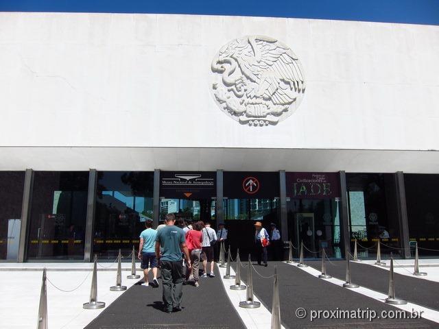 Museu Nacional de Antropologia - Cidade do México - entrada