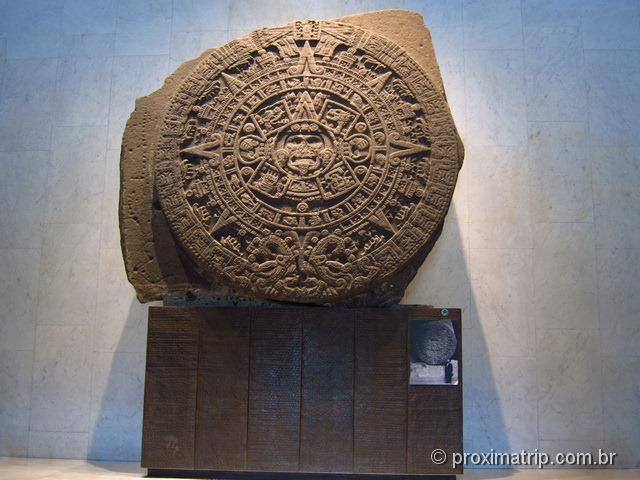 Museu Nacional de Antropologia - Cidade do México - Calendário Azteca - Piedra del sol
