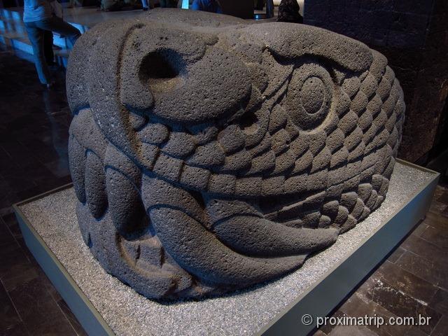 Cabeça de serpente - Kukulkan - Museu Nacional de Antropologia da Cidade do México