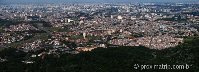 Cidade de São Paulo vista do Pico do Jaraguá