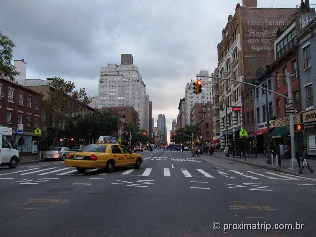 Vista da 6th Avenue, em Greenwich Village