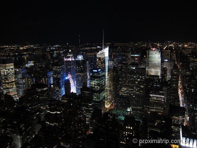 Empire State Building: vista noturna de Nova Iorque