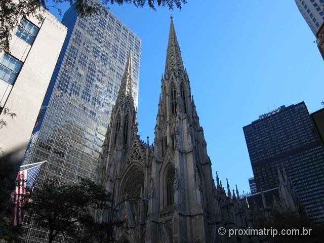 Tirar uma foto da St. Patrick's Cathedral - Nova Iorque