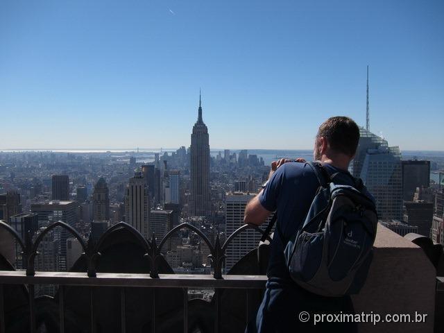 Empire State building, fotografado do Top of The Rock - Nova York