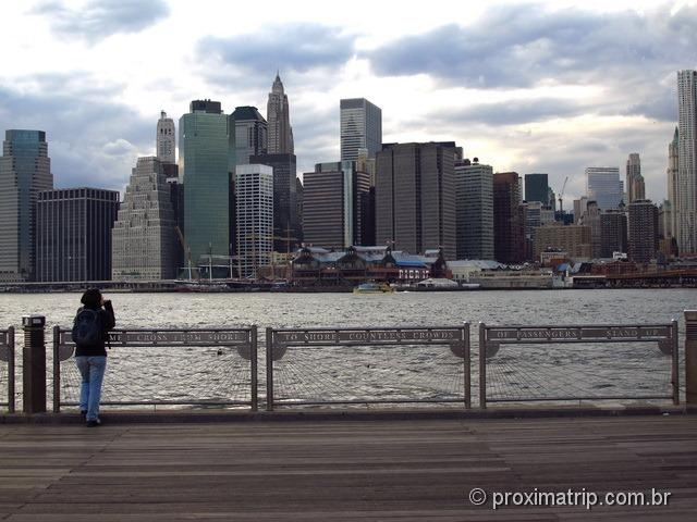 O Skyline de Manhattan visto do Brooklyn