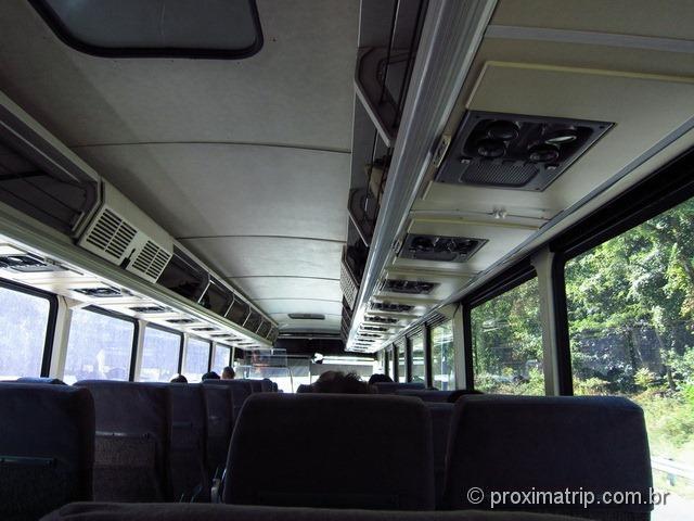 dentro do ônibus da greyhound - viajando da Philadelphia a Washington DC