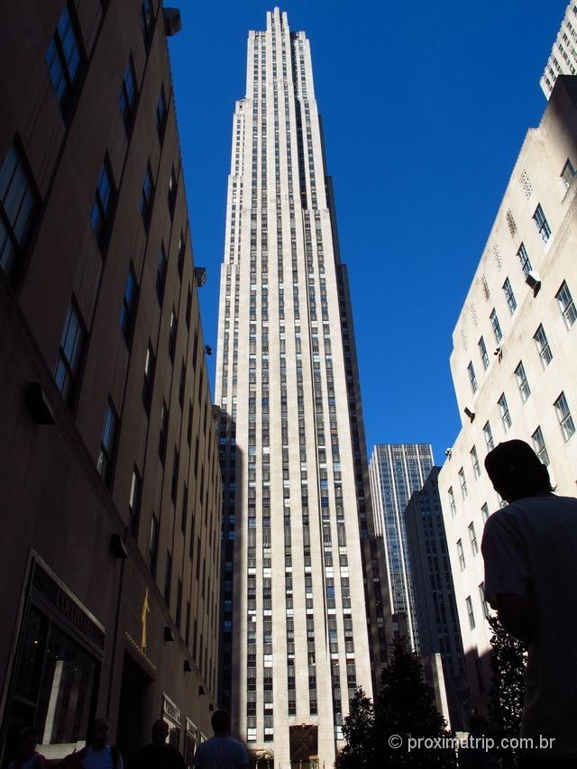 O Rockefeller Center, com o Top of The Rock lá em cima! Nova York