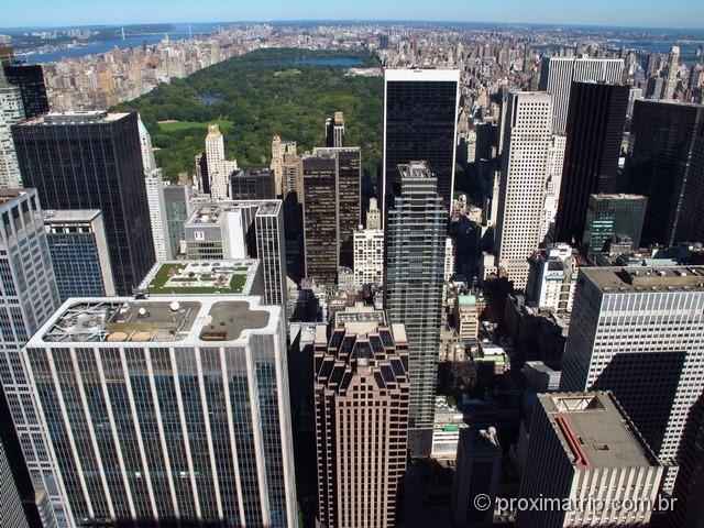 Central Park - foto do Top of The Rock - Nova York