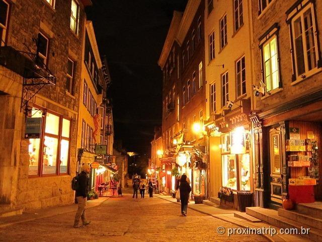passeio a pé pela Velha Quebec, ou Vieux- Quebec