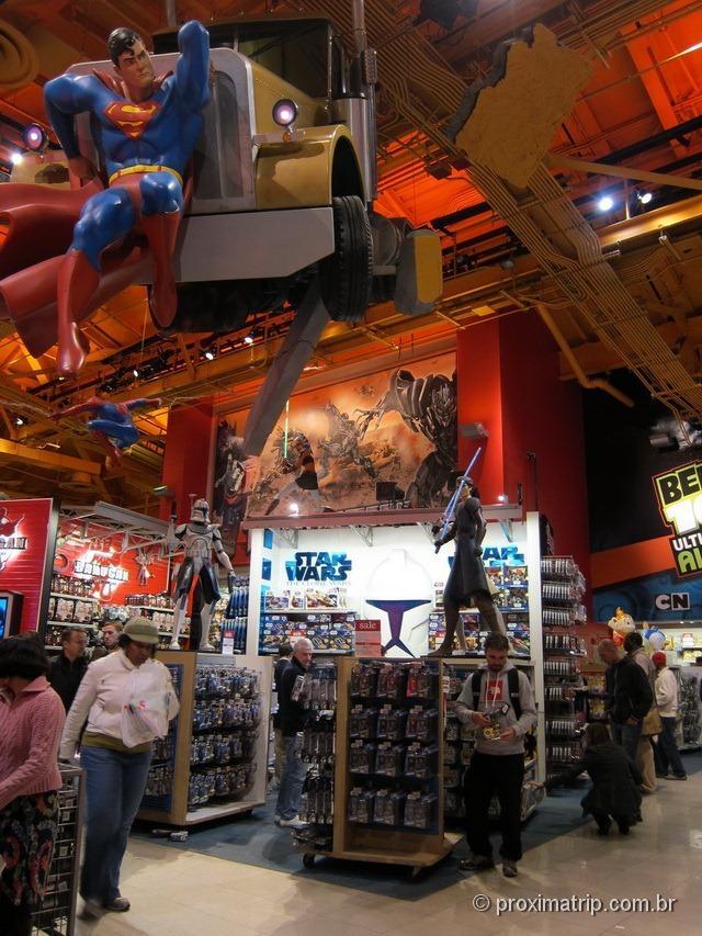 Superman - Toys R Us na Times Square - Nova York