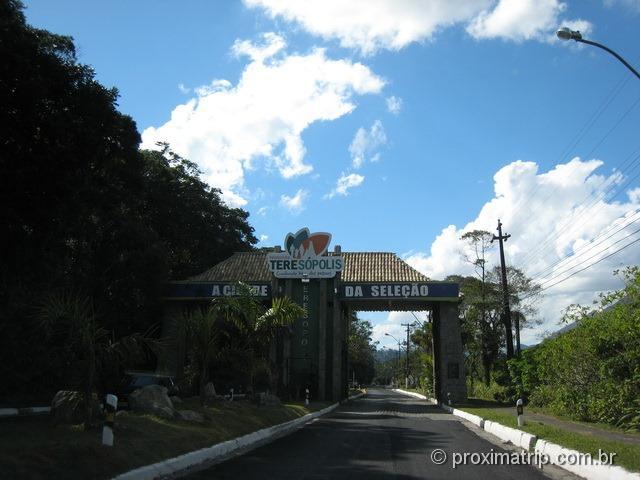 Entrada de Teresópolis - a cidade da seleção