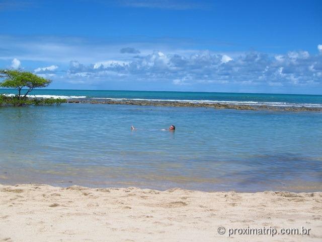 praia de Carneiros e arrecifes de coral - sem ondas, uma piscina natural...
