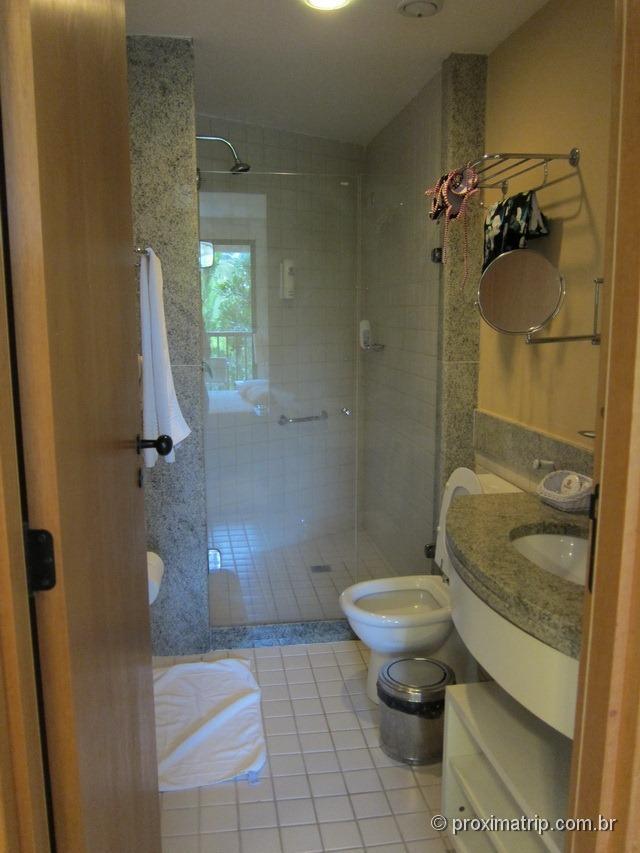 Banheiro dos apartamentos - Marulhos Suítes Resort Hotel - review Próxima Trip