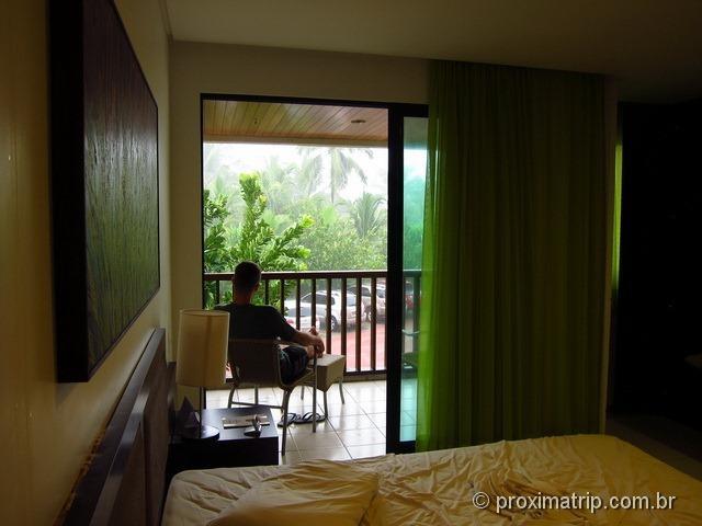 Quarto do Marulhos Suítes Resort Hotel - dia de chuva!!
