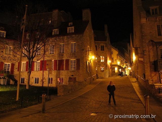 Velha Quebec, ou Vieux- Quebec - de noite