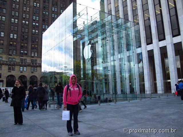 Entrada da Apple Store da 5ª avenida - Nova York
