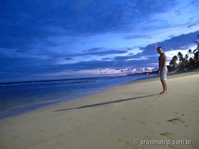 A tranquila praia de muro - por do sol - Porto de Galinhas