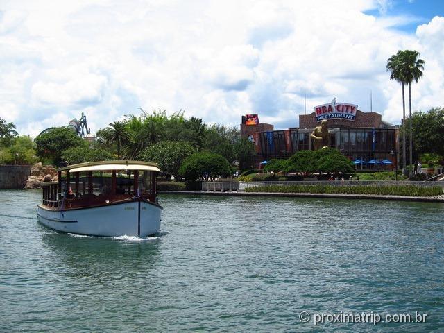 Water Taxi do Hard Rock Hotel Orlando até os parques da Universal
