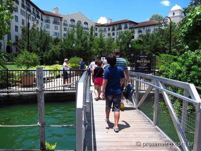 chegando no Hard Rock Hotel Orlando de barco!