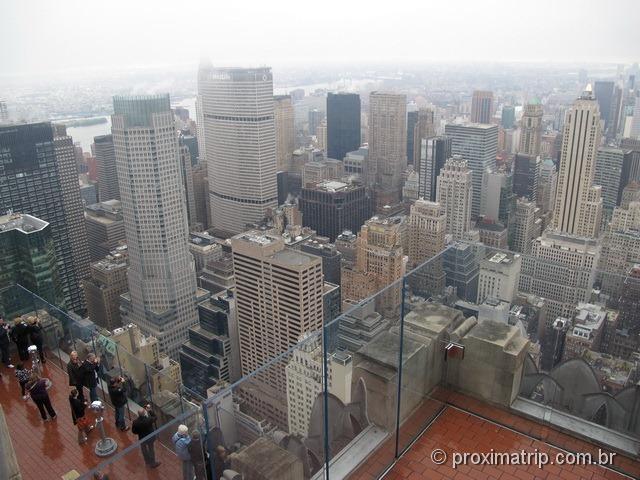 Top of The Rock - dia nublado com chuva! Nova York
