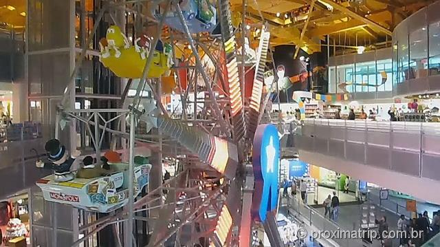 Roda gigante dentro da Toy R Us, em Manhattan - Nova York