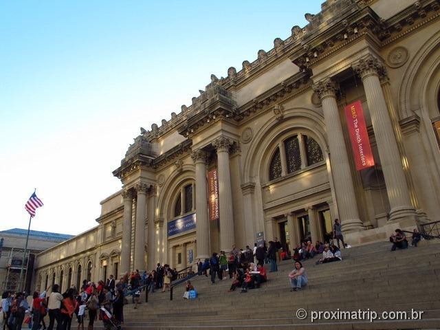 Entrada do Museu de arte Metropolitan - Nova Iorque