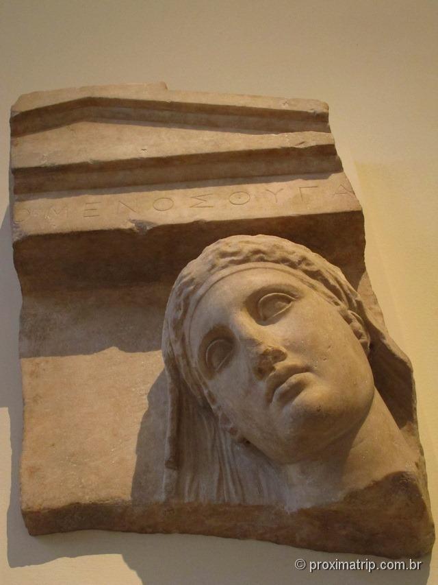 Escultura de rosto grego - Metropolitan Museum of Art - Nova York
