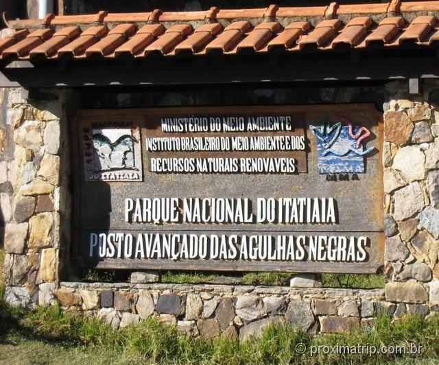 Portaria do Parque nacional do Itatiaia – posto avançado Agulhas Negras, também conhecido como parte alta