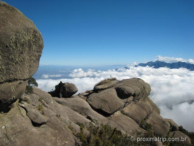 Linda vista por sobre as nuvens do Vale do Paraíba - Parque Nacional do Itatiaia