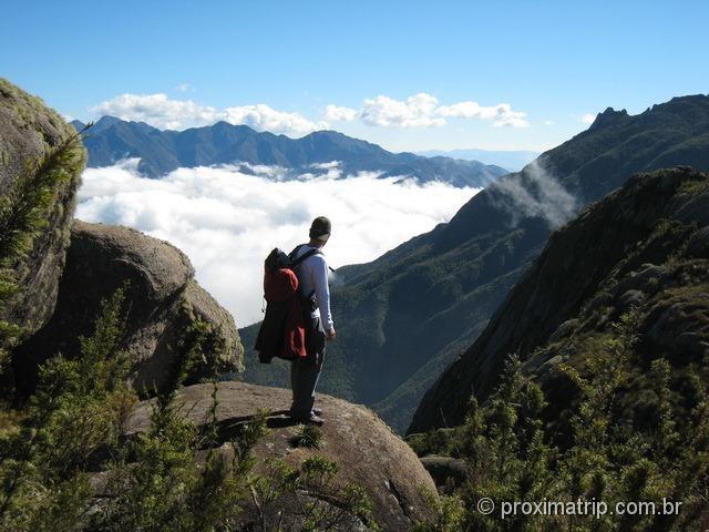 Parque Nacional do Itatiaia, parte alta - Linda vista do vale do Paraíba