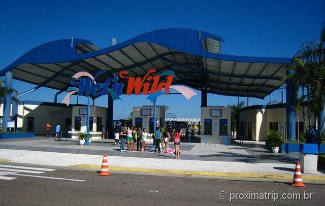 Entrada e bilheterias do Wet'n Wild em Itupeva