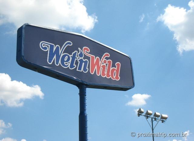 Letreiro do Wet'n Wild em Itupeva