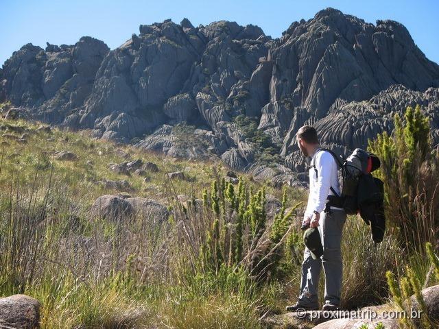 Parque Nacional do Itatiaia - parte alta. Vista do Pico das Agulhas Negras