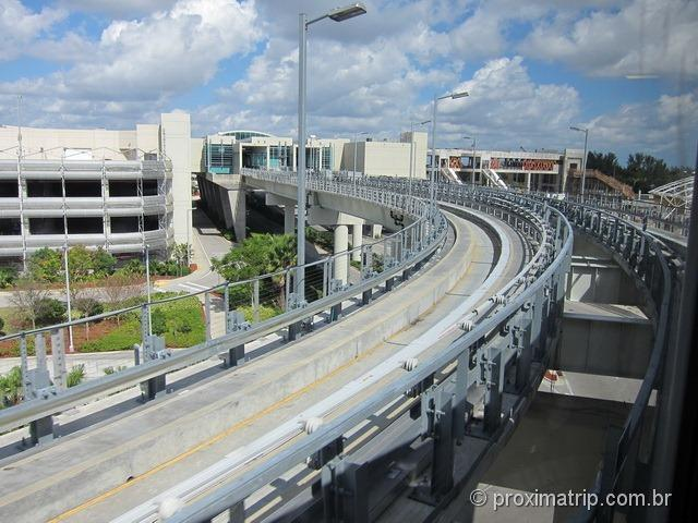 Pista do MIA Mover - Aeroporto de Miami