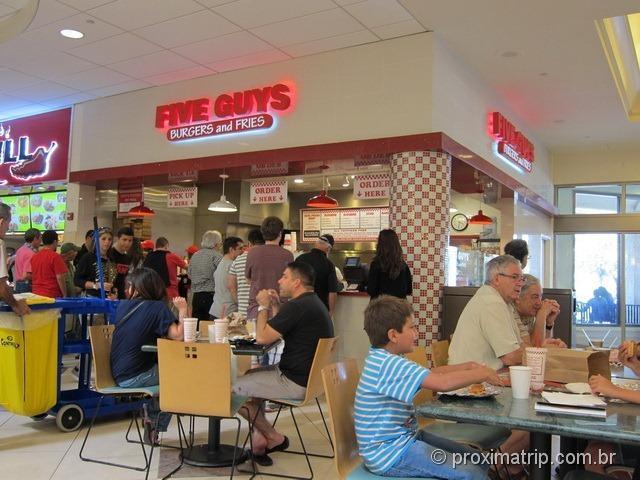 Five Guys no shopping Aventura Mall - Miami