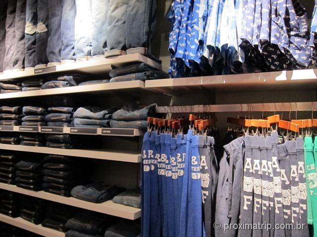 Roupas da Abercrombie & Fitch - Miami - Shopping Aventura Mall