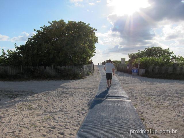 Hilton Bentley Miami south beach - acesso do hotel a praia
