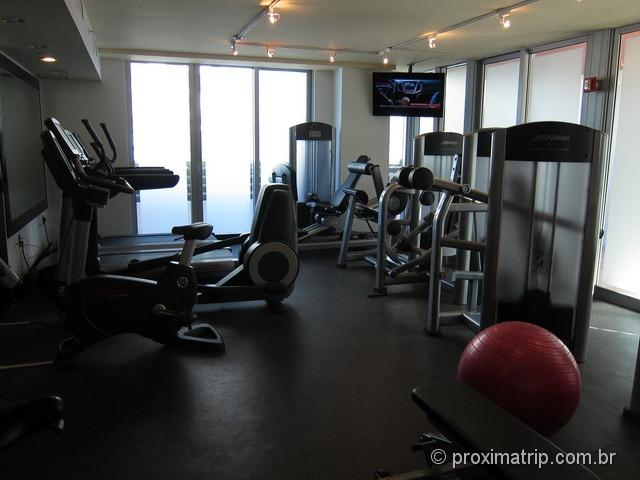 Excelente sala de ginástica do Hilton Bentley Miami South Beach